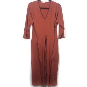 Zara Basic Midi Waist Wrap Dress
